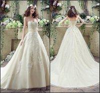 2015 Nuevo vestido magnífico Plaza sirena de la boda espalda abierta de encaje Bolero cepillo tren Longitud del piso del vestido nupcial Bestoffers JA 8641
