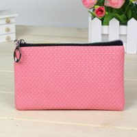 Cheap Cheap Wholesale Weman Wallet Hot Sale Candy Color PU Leather Coin Bag Phone Package Coin Purses 11 Colors Free Shipping
