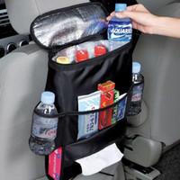 Wholesale Car Cooler Bag Seat Organizer Multi Pocket Arrangement Bag Back Seat Chair Car Styling Car Seat Cover Organizer IQ0005 smileseller2010