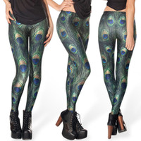 Wholesale Ladies Leggings Models - Tight pants design unique model of digital printing is the peacock feathers sexy thin lady leggings tights summer