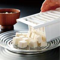 Wholesale 1 Tofu Mold Box DIY Homemade Press Maker Plastic Soybean Curd Making Machine Kitchen Cooking Tools
