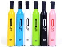 wine bottle umbrella - 2015 New Novelty Design Personalized Clear Rain Umbrella Super Cute And Compact Folding Manually Fashion Wine Bottle Umbrella