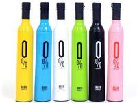 aluminum rain - New Novelty Design Personalized Clear Rain Umbrella Super Cute And Compact Folding Manually Fashion Wine Bottle Umbrella