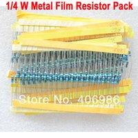 400pcs 1/4 W Metal Film Resistor Paquete precisión del 1% 20 Tipos de Resistencia Común FZ0912