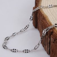 Wholesale 2015 New Arrival Casual Necklaces MM Silver Stainless Steel Chains Necklaces Fashion Jewelry NO For Women Statement Necklace jewelry