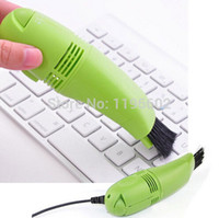 Wholesale USB Vacuum Keyboard Cleaner Dust Collector For PC Laptop Free DHL Fedex