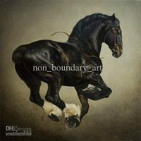 Wholesale Hand Painting Oil Wall Art Hand painting Wall Canvas Horse Art Modern Abstract Oil Painting AN