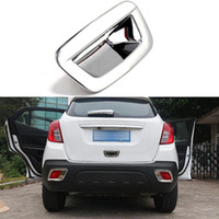 accessories door frames - Car Styling Rear Tail Door Handle Bowl Cover Decoration Frame For Buick Encore Opel Mokka ABS Accessories