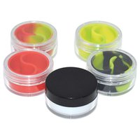 acrylic food containers - Wax Containers Jars ML bho dab wax container with acrylic shield food grade silicon dry herb