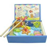 baby fish games - Baby Toys Boikido Wooden Fishing Magnetic Set Fish Game Education Toys Fishing Toy Set Wooden Toys Gift