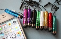Wholesale DHL Capacitive Touch Pen The Bullet Mini Stylus Pen For iphone ipad samsung Galaxy note