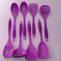 Wholesale Silicone Blade Spoon Scraper Shovel Pasta Spatula Colander Customize Logo Color Supported Kitchen Dinnerware Silicone Kitchenware Set
