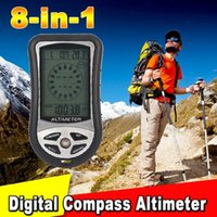 Wholesale Hot in Digital Altimeter Barometer Compass Weather Forecase Time Calendar Thermometer With LED Blue Backlight