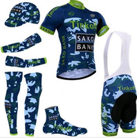 banks suits - 5 Pieces New camouflage team Tinkoff saxo bank maillot ciclism Bike jersey MTB cycling bib shorts d gel pad Cycling jersey suit
