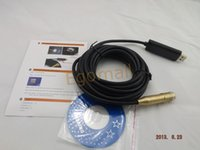 Wholesale 5m Waterproof USB Cable Drain Pipe Plumb Inspector Snake Colour borescope S015