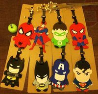 Wholesale NEW Hot fashion Cartoon movie LUGGAGE TAG lovely D Cartoon Super hero Travel bag tag bag tag Toys best gifts cc101