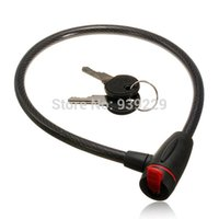 Wholesale Promotion cm High Quality Universal Bicycle Bike Heavy Duty Coil Lock Steel Cable With Keys Black