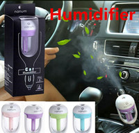 Wholesale Nanum Car Plug Air Humidifier Purifier Vehicular Aromatherapy Ultrasonic Humidifiers Purifiers Air Cleaning Cooling Rotation ML