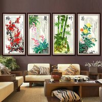 Wholesale D printing precise stitch latest living room study series Merlin bamboo and chrysanthemum thirty four United draw substantial