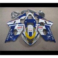 Precio de Suzuki gsxr750 fairing-Principal Azul + Blanco Estilo Moto Carenado Kit para Suzuki GSXR750 GSXR600 GSXR 750 GSXR 600 K4 ABS 2004 2005 04 05 Conejo Patrón Corona