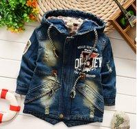 baby boy windbreaker - TA22 NEW children baby boy fashion Cowboy Hooded Windbreaker coat boy Leisure time coat