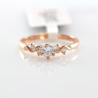decorative fans - OL lady fan eight heart eight arrows zircon ring k rose gold plated fashion high grade decorative jewelry