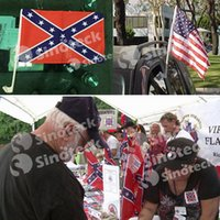 Wholesale Car WINDOW STICK Confederate Flag Rebel CSA Battle New cm Civil War Flags Hand Type Small Flag with Pole Free DHL UPS Factory In Stock