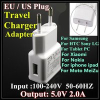 ace brand - 50pcs High Quality V A EU US Plug Wall USB Charger Adapter For Iphone s Samsung S5 s6 j5 J1 ACE J2 Sony LG Htc Travel Adapter BY DHL