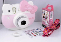 Wholesale New Arrival Cartoon Kiti Cat Polaroid Cameras Birthday Chirstmas Gift Girls Ladies Film Cameras Sweety Mini Kiti Gift set Pink M2694