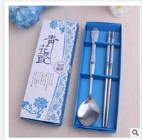 Wholesale Dinnerware Sets pieces of blue and white porcelain tableware business gifts