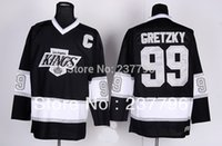 los angeles - Newest Polyester Los Angeles Kings Jerseys Wayne Gretzky Jersey Ice Hockey Team Color Black Men s Fashion Best Quality