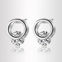 annulus ear - New brand Hot Women Annulus Rhinestone Earrings Ear Stud Jewelry