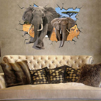 antelope sticker - Welcome To Our Home African Animal Elephants Antelope Wall Sticker Bedroom D Wall Decor x100 cm papier peint Smile