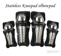 Wholesale Super Stainless Motorcycle Protective kneepad Elbowpad Set Motorcycle Sports Racing Knee Elbow Protective Gears Racing Equipment