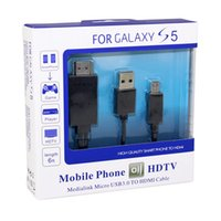 Wholesale High Quality ft Micro11Pin USB to HDMI MHL Cable Adapter Full HD P For HDTV Tablet GALAXY S5 D5273A