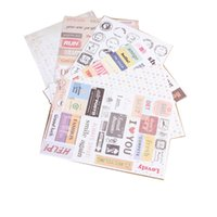 Wholesale 6 sheet set DIY Vintage Retro Paper Sticker Classic Stamp Stickers for Decoration Scrapbooking Diary Album Stationery