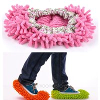 house slippers men - Practical fuzzy cleaning shoes slippers mop for women home house unisex lazy slippers for men floor cleaning room sandals sneakers shoes sli