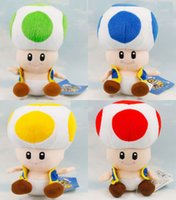 Wholesale Super Mario Vedio Games Funny Children cm Colors Brother Bros Mushroom Toad Plush Toy Kids Toys Child Stuffed Doll Quality
