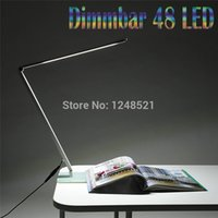 Wholesale 2016 hot sell led desk lamp w smd dimmable table light Foldable Metal Glass Base Power Night Vision Reading lighting