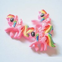 resin material - New My Little Pony horse Hair Accessories material flat back resins for Cartoon DIY Accessories