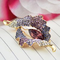 amethyst hair accessories - FJ023 K Gold Plated Amethyst Sapphire Barrette hair clip Accessory FULL purple Austrian Crystals jewelry