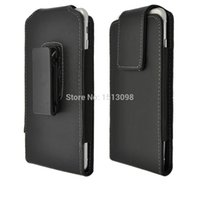 Wholesale Faux Leather Case Pouch Vertical Holster with Rotating Belt Clip for For Apple iphone Samsung S4 S5 and other inch phone