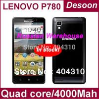 Precio de Lenovo p780-Ruso Almacén Original de <b>Lenovo P780</b> Teléfono Quad Core teléfono móvil MTK6589 1.2 GHZ 1GB Ram+4GB Rom 4000mah de la batería/ koccis