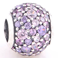 bead outlets - Fit Pandora Bracelets Charms Beads Sterling Silver Jewelry Outlet Cheap Purple Sky European DIY finding For Women