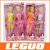 Wholesale 2015 new Barbie single paperback gifts toys to hollow box many colors and dress