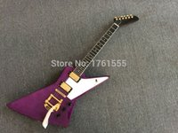 left hand electric guitar - Factory Custom one piece neck body Violet gib Electric guitar China hot selling left hand