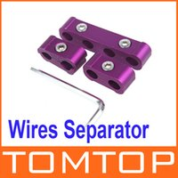 Wholesale 3pcs Engine Spark Plug Wires Separator Divider Clamp Kit for mm mm mm Purple Vehicle Car Tool