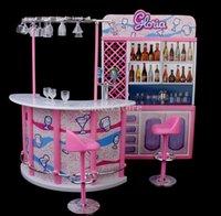 Wholesale 2015 Plastic Gloria Dollhouse Furniture Bar Play Set For Dolls HOT SALE