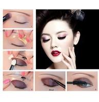 Wholesale Hot pack Eyebrow Stencils Eyeshadow models eyeshadow auxiliary tools Tracing shadow card Draw the eye makeup tools
