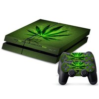 Wholesale Green Leaf Pattern Dustproof Waterproof PS4 Controller Console Protective Skin Adhesive Sticker Set